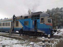 На Волині сталася пожежа у поїзді (ФОТО, ВІДЕО)